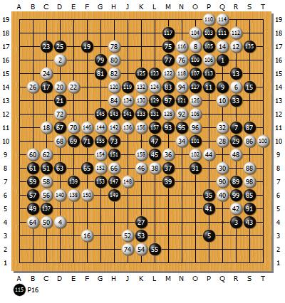 第52回韓国国手戦第2局