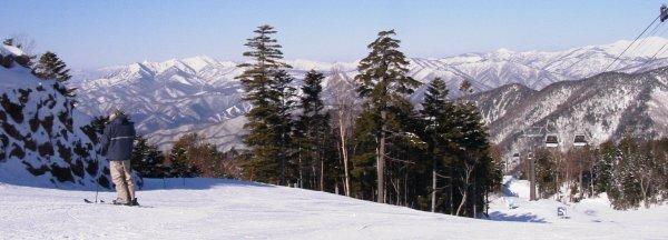 丸沼高原ゴンドラ山頂からの景観